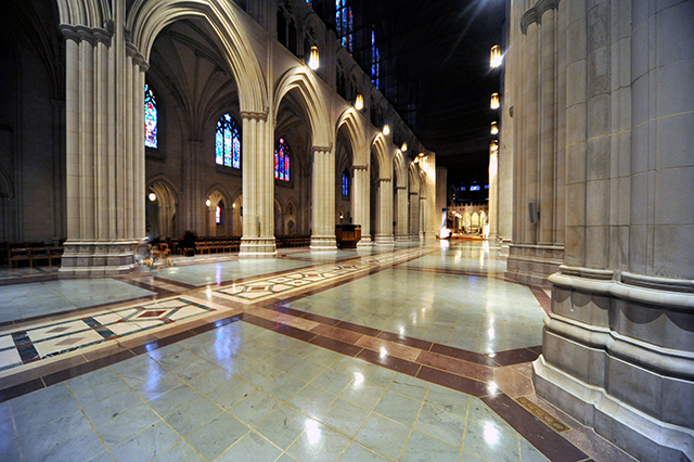 Clearing of the Nave At Washington National Cathedral - A Special Access Photo Safari