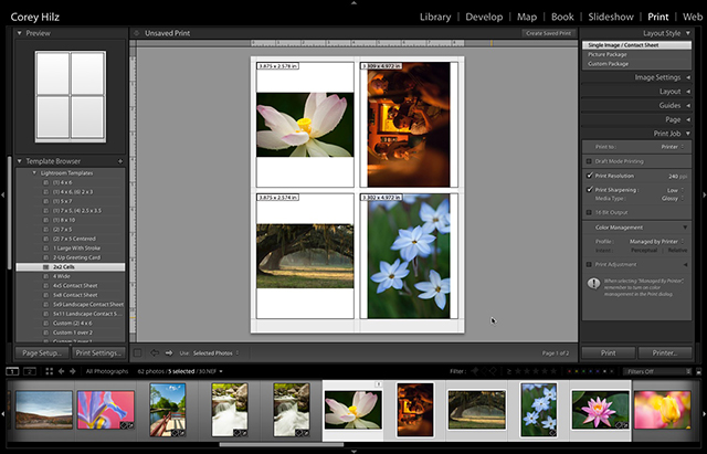 2017, June 11: Printing With Lightroom
