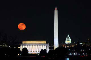 2014, November 7: DC Skyline, Iwo Jima and the Full Moon Photo Safari