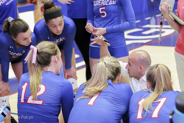 College Sports - On the Sidelines at American University-Lance Polcyn