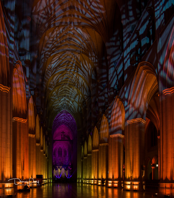 Nighttime Lighting at Washington National Cathedral-Dhiraj Patil
