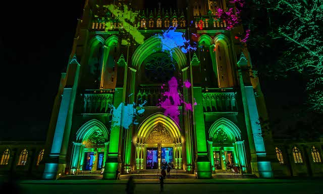 Nighttime Lighting at Washington National Cathedral-Earl Davy