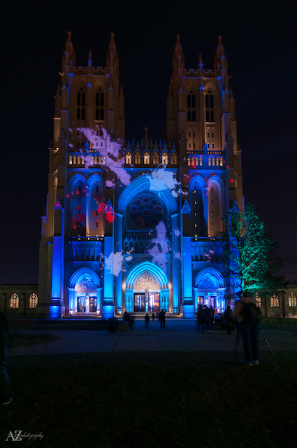 Nighttime Lighting at Washington National Cathedral-Beth Haubach