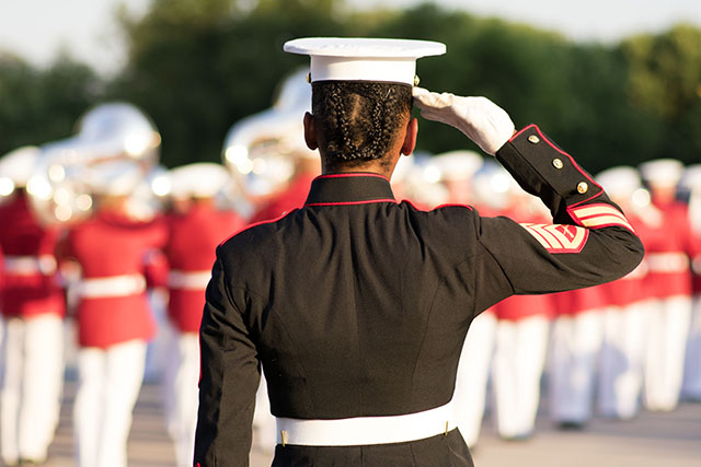 Marine Corps Silent Drill Team Photo Safari-Kathryn Crandlemire
