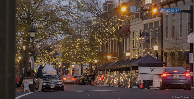 Holiday Lights in Old Town Alexandria-Anne Sweetser
